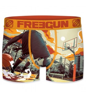 Boxer Garçon Freegun Basket Orange
