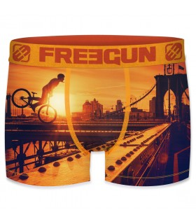 Boxer Garçon Freegun Brooklyn Orange