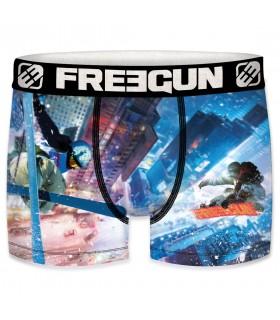 Boxer Garçon Freegun Ski bleu