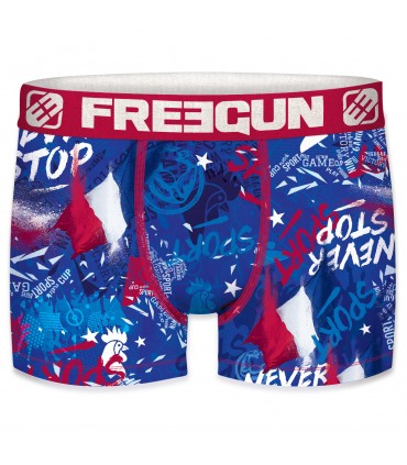 Boxer Homme Freegun France Bleu