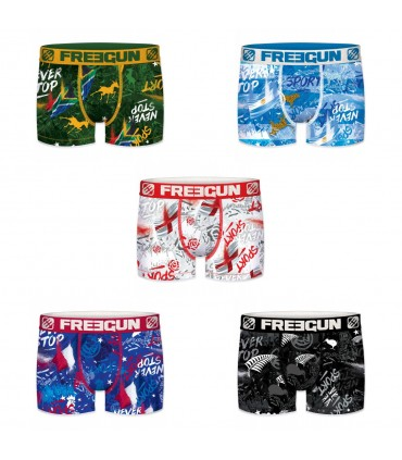Lot de 5 boxers homme nations freegun