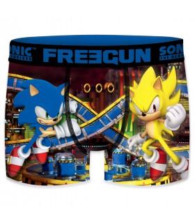 Boxer Homme Freegun Sonic Duel Bleu