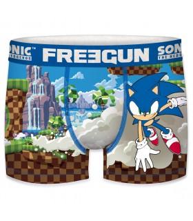 Boxer Homme Freegun Sonic Run Bleu