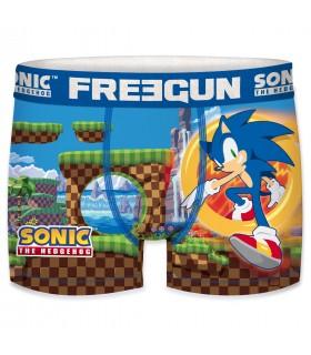 Boxer Freegun homme Sonic Game Bleu
