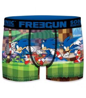 Boxer Homme Freegun Sonic Start Bleu