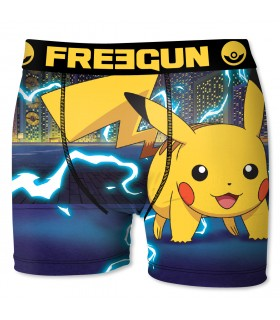 Boxer Garçon Freegun Pokemon Eclair Bleu