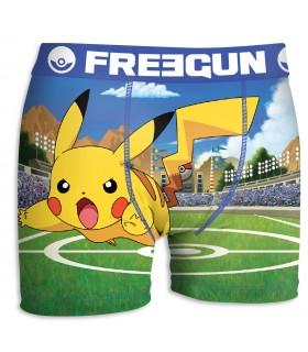 Boxer Garçon Freegun Pokemon Stade Vert