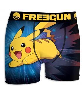 Boxer Homme Freegun Pokemon Fusion Jaune
