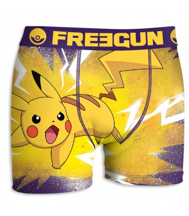 Boxers Homme Freegun Pokemon Pikachu attaque Multicolore