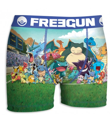 Boxer Homme Freegun Pokemon Pikapika Multicolore