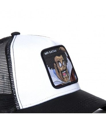 Men's Capslab Dragon Ball Z Satan White and Black Cap