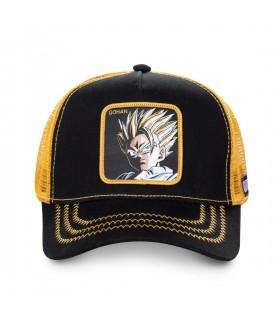 Men's Capslab Dragon Ball Z Super Saiyan Black and Yellow Cap