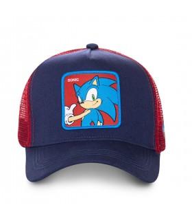 Casquette Capslab Sonic Bleu filet Rouge