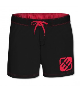 Boardshort court homme Freegun Uni Rouge