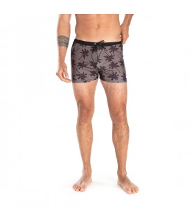 Boxer de bain homme Freegun Palmiers Noir et Vert