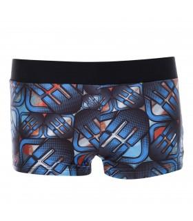 Boxer de bain Garçon Freegun Logos Bleu et Orange