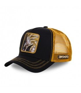 Casquette Capslab Dragon Ball Z Goku Super Saiyen Noir et Orange