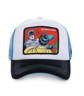 Casquette Capslab DC Comics Batman blanc et bleu