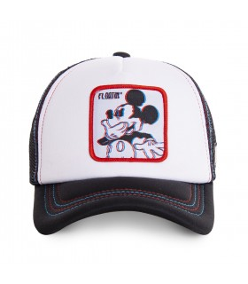 Casquette Capslab Disney Mickey blanc et noir