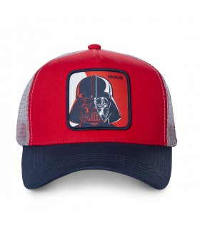 Casquette Capslab Star Wars Dark Vador rouge et blanc