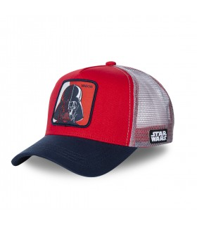 Casquette Capslab Star Wars Dark Vador Rouge filet Gris
