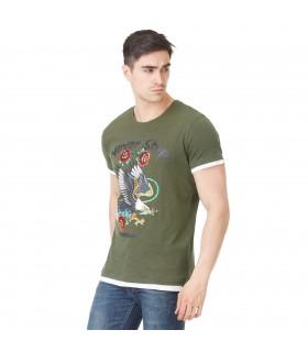 T-shirt Homme Freegun Aigle Kaki