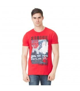 T-shirt Homme Freegun Skate Rouge