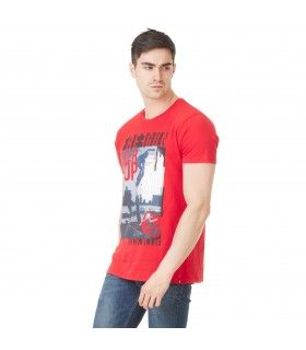 T-shirt Homme Freegun Skate Rouge