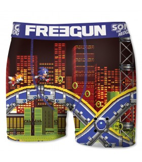 Boxer Homme Freegun Sonic City Orange