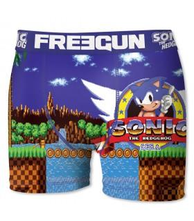 Boxer Garçon Freegun Sonic Game Bleu