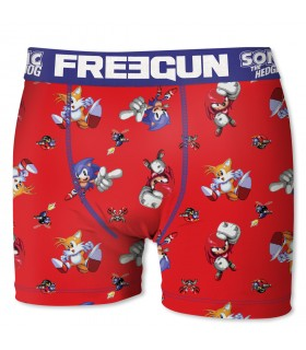 Boxer Homme Freegun Sonic Team Rouge