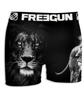 Boxer Homme Freegun Lion Noir