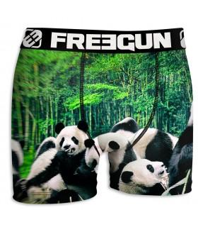 Boxer Homme Freegun Panda Vert