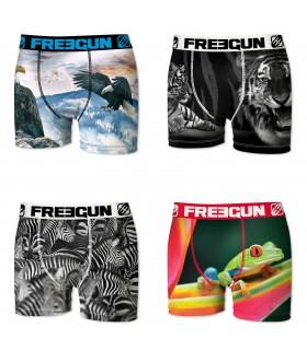 Lot de 4 boxers Homme Freegun Multicolore