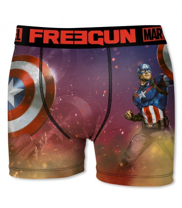 Boxer Homme Freegun Marvel Captain America Rouge