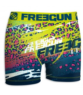 Boxer Homme Freegun Racing Bleu