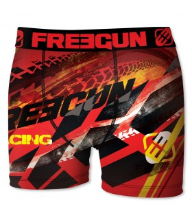 Boxer Homme Freegun Run Rouge