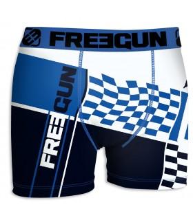 Boxer Garçon Freegun Flag Bleu