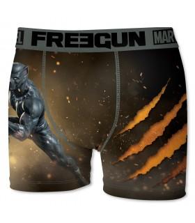 Boxer Homme Freegun Marvel Panthère Marron