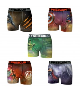 Lot de 5 boxers Homme Freegun Marvel Comics Multicolore