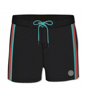 Boardshort Court Homme Freegun Band Uni Noir