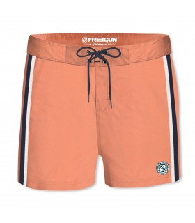 Boardshort Court Homme Freegun Band Uni Orange