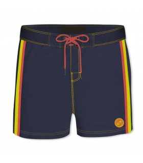 Boardshort Court Homme Freegun Band Uni Bleu
