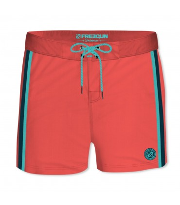 Boardshort Court Homme Freegun Band Uni Rouge