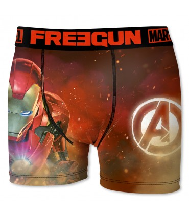 Boxer Garçon Freegun Marvel Iron man rouge