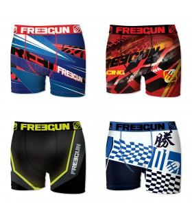 Lot de 4 boxers Garçon Freegun Multicolore