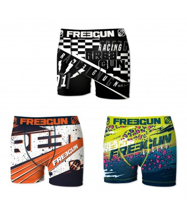Lot de 3 boxers Garçon Freegun Multicolore