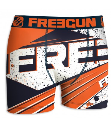Boxer Garçon Freegun Ink Orange côté