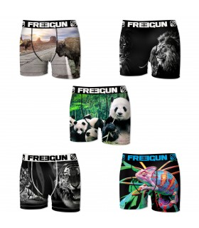 Lot de 5 boxers Garçon Freegun Multicolore