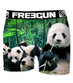 Boxer garçon Freegun Panda Vert